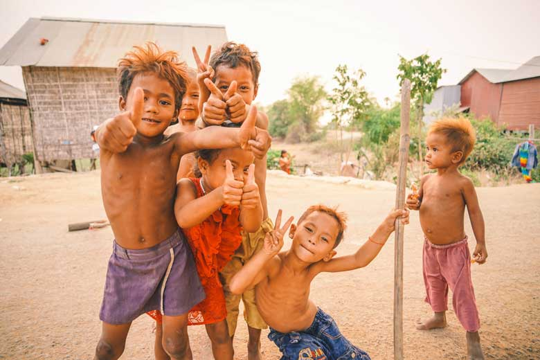Children are playing in my village