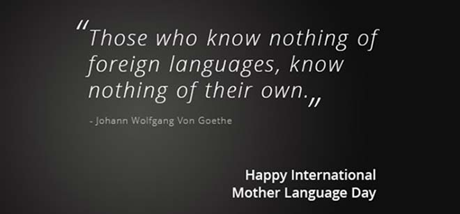 Happy International Mother Language Day Quote