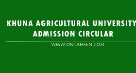 Khulna Agricultural University Admssion Circular