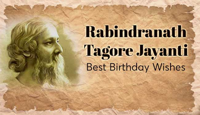 rabindranath tagore jayanti wishes messages